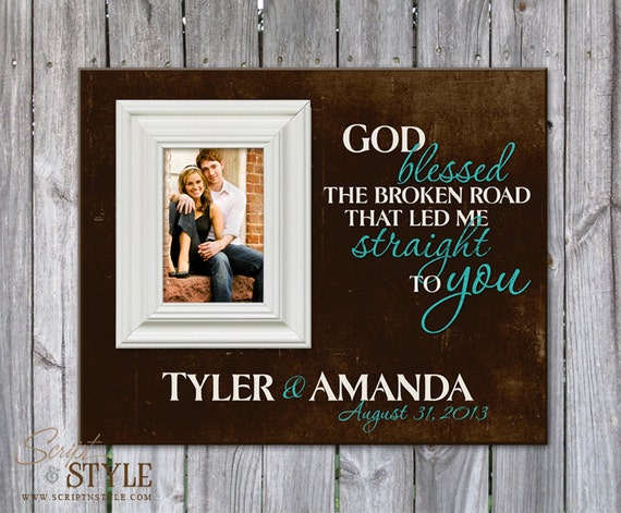 Personalized Family Name Sign With Picture Frame Family
