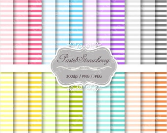 24 Stripe papers - Personal Or Small Commercial Use (S015)