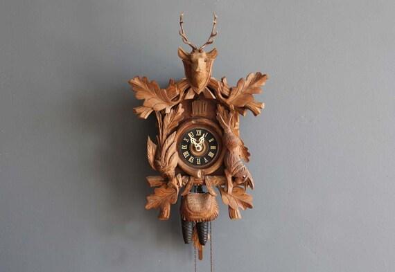 Black Forest Large Carved Cuckoo Clock