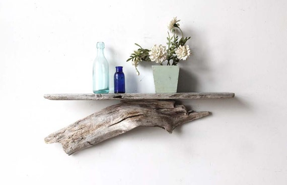 Large Sculptural Natural Driftwood Shelf