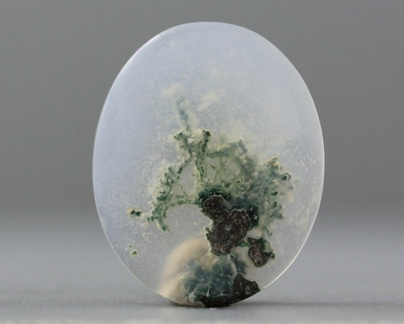 Moss Agate, Naturally Cloudy Gemstone Specimen - Small, 26mm (C1170)