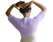 Lilac Lacy Shrug - Purple Bridal Bolero - Women Teens Accessories - Spring  Summer Fashion