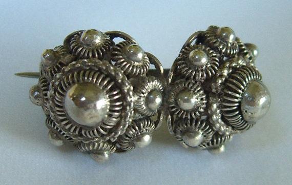 Victorian Brooch Dutch Buttons Zeeuwse Knopen Traditional Costume Zeeland Holland 1800s Antique Jewelry