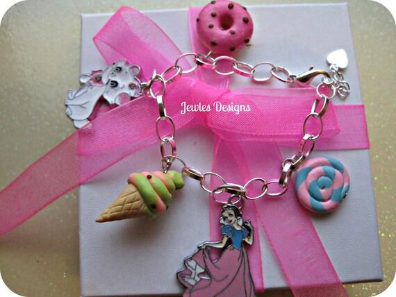 Christmas gift for girls, Little Girls Snow White Charm Bracelet Sterling Silver, Children's gifts, handmade by Jewles Designs on Etsy