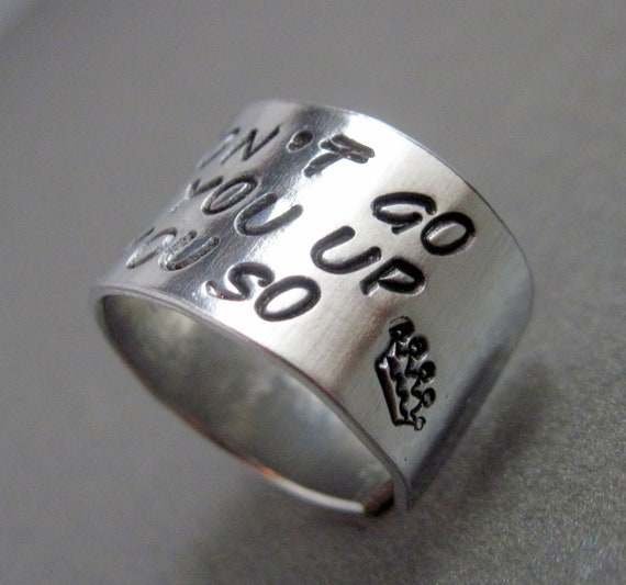 Where the Wild Things Are Ring - I'll Eat You Up - Hand Stamped Aluminum