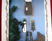 Sweet Dreams Hangin' Around With Santa Doll Pattern