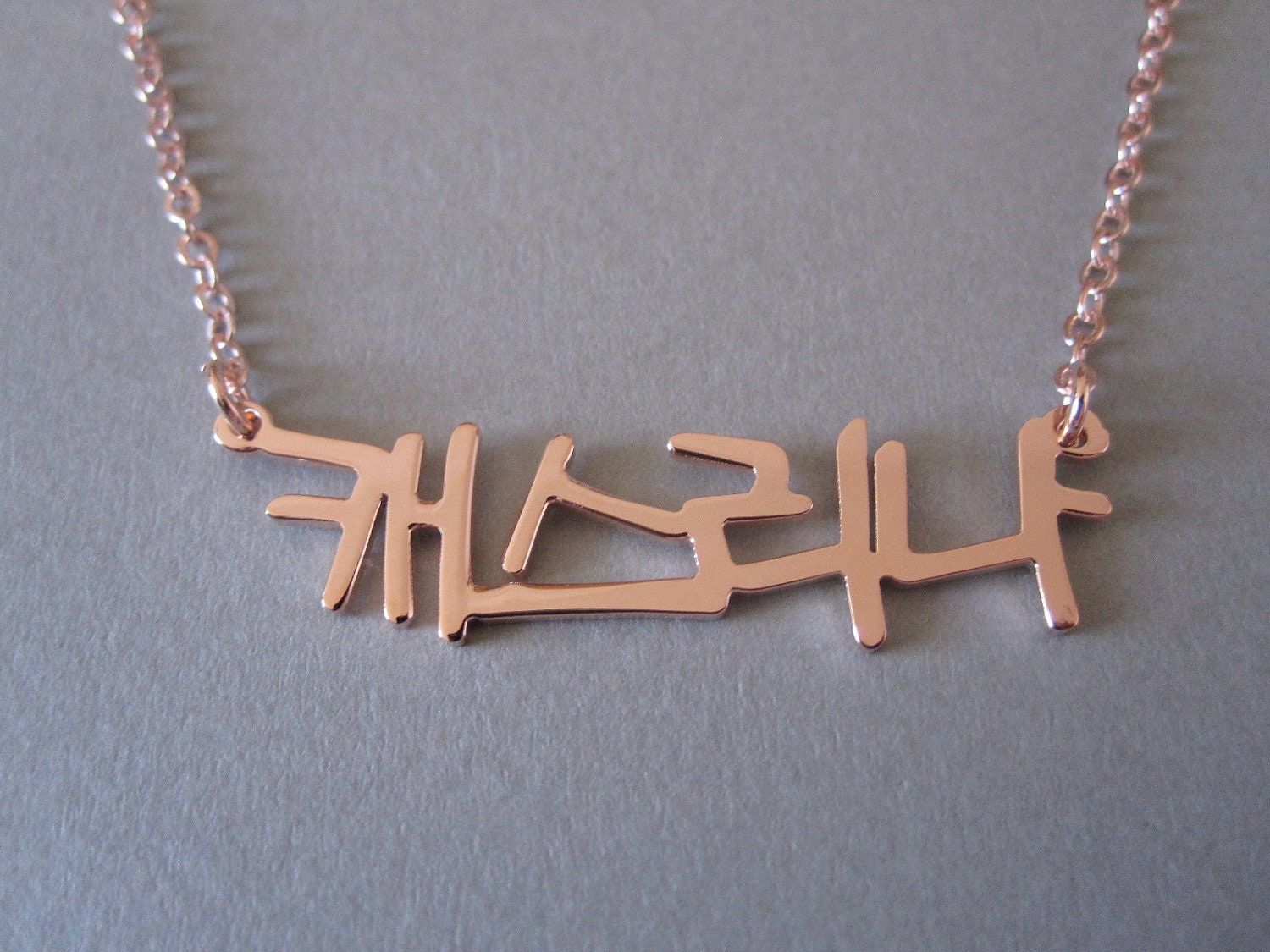 Personalized rose gold korean name necklace for Rose gold personalized jewelry