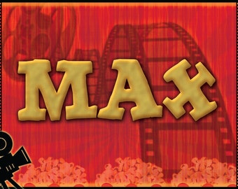 Personalized Movie Placemats / Party Favors