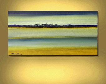 ABSTRACT ORIGINAL Painting Modern Seascape Large Art 24X48 Surrealism Acrylic Paintings By Thomas John