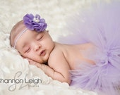 Sweet Shabby Chic Lavender Tutu Couture Tutu With Matching Vintage Style Headband From The Sweet Shabby Chic Collection
