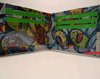 handmade duct tape wallet new graffiti design
