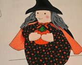 Winnie Witch Panel Halloween Panel Autumn Craft Panel  Door Hanging Panel VIP Cranston Print Panel.