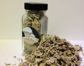 Infused Celtic Grey Sea Salt with Sage 3oz in a French Square Spice Bottle