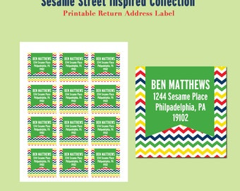 It is a picture of Shocking Sesame Street Return Address Labels