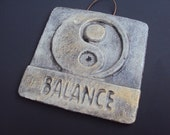 Cast Cement Stone Yin Yang Balance Wall Hanging ooak Save With Coupon