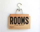 Vintage Sign, Rent Sign, Rooms for Rent Sign, Antique Sign, Vintage Receipts, Antique Receipts, Ephemera, c1900