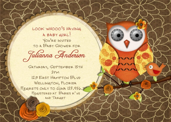 Bird Baby Shower Invitations as adorable invitations template
