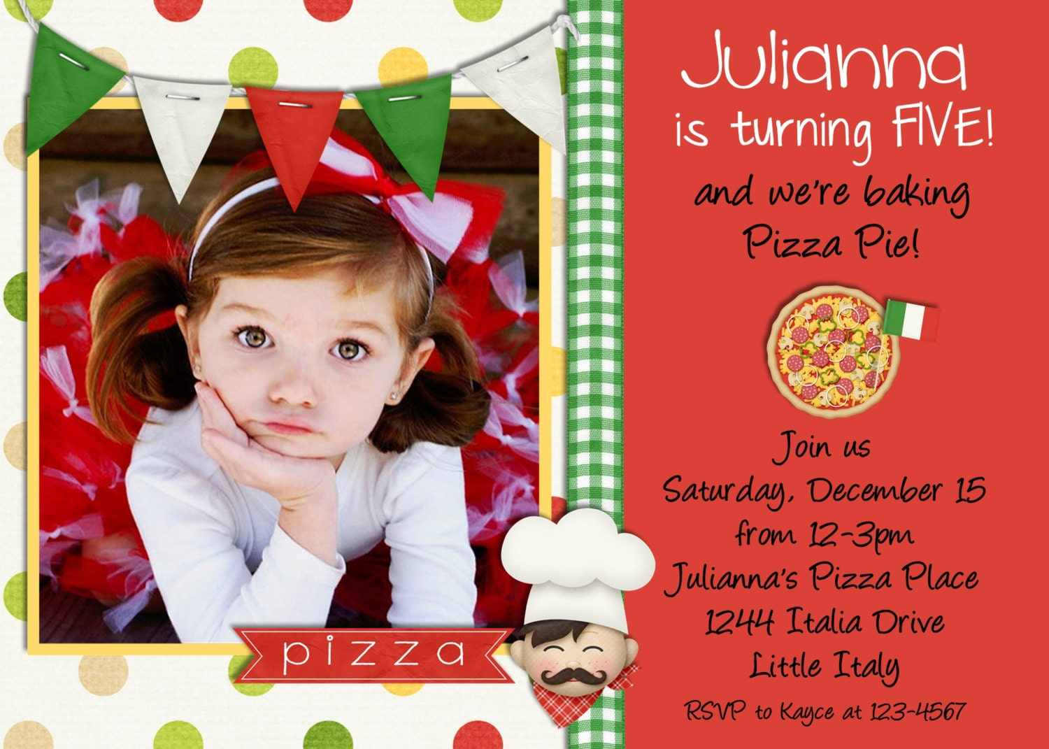 pizza party pizza invitation birthday pizza party by peasprints, Party invitations