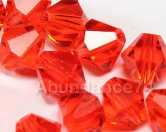 Swarovski Crystal Beads BICONE 5328 5301 HYACINTH - Available in 3mm, 4mm, 5mm, 6mm and 8mm