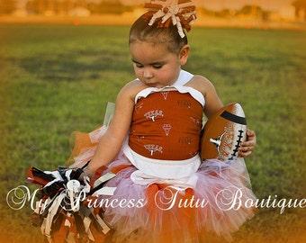 Texas Longhorns Tutu Set Sports Tutus Custom Made Tutus Girls Sports Tutus