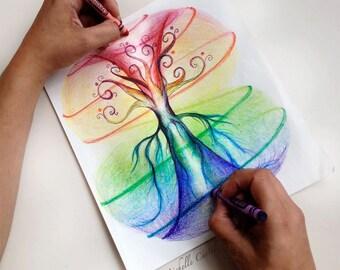 Infinity Tree - 8 x10 Original art (unframed in a 11x14 matt)