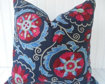 Blue suzani pillow Etsy