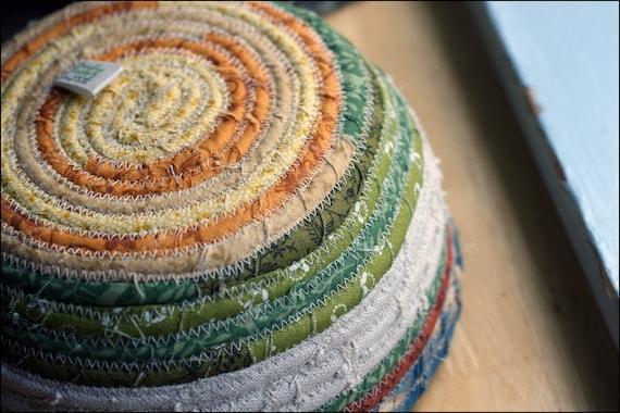 Autumn Fall Palette deep Fabric Coil Bowl Basket 1