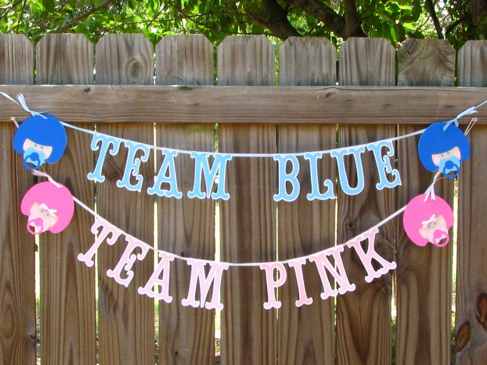baby reveal banners football theme gender reveal baby shower