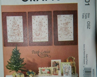 McCall's Redwork Quilts - Wall Hangings Pattern - Uncut