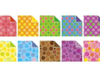 Pearl Waterdrop Pattern Origami Papers - Double Sided - 20 Sheets