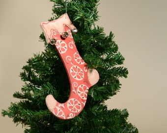 Wood Stocking Ornament
