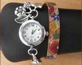 "women wrist watch ""sea of blossom"" leather"