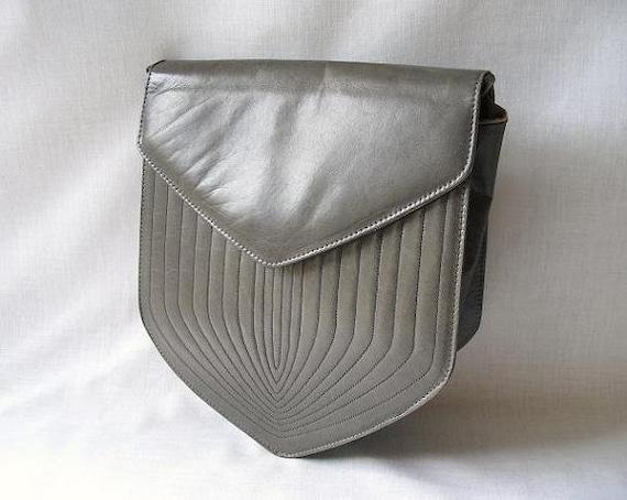 RESERVED for mazemanagement1 - Grey Designer Purse Bag Charles Jourdan Cross Body Shoulder Bag