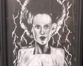 Bride of Frankenstein framed glossy print..