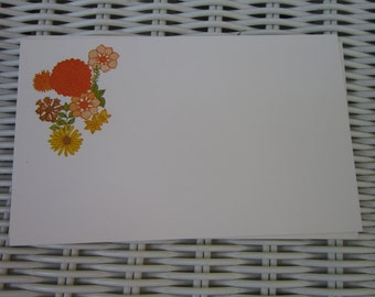 6 Vintage Postcards by Current orange and yellow flowers 3 x 5