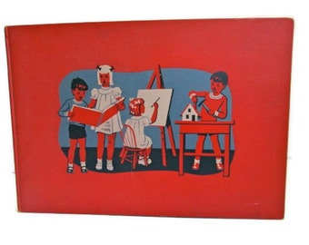 Antique Childrens Book Art Music Volume 13 Learning Educational 1949