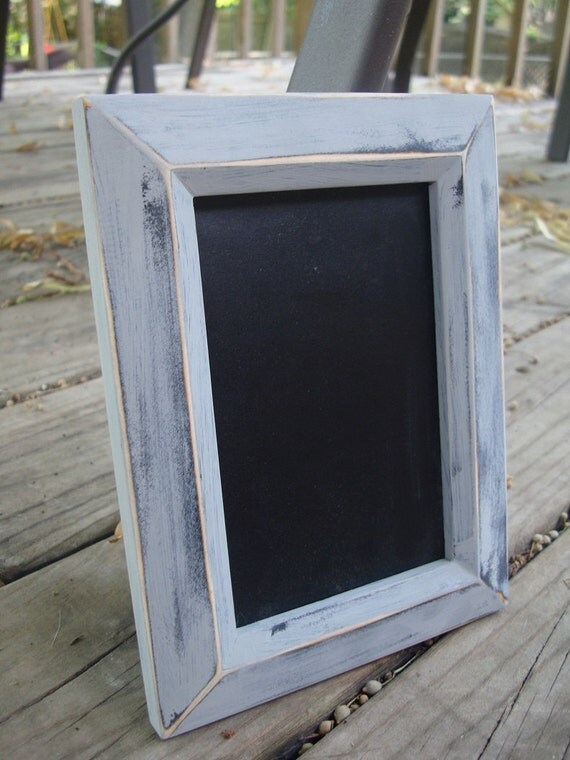 Grey distressed Chalkboard frame -Photo prop
