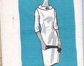 Vintage 60's Sheath Dress Fold Down Button Collar Pattern Anne Adams 4599  Bust 36