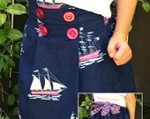 "PDF Girls Skirt Pattern Tutorial ""Sail Away Skirt"" Sailor Skirt for Sizes 6-12 months through 5T"