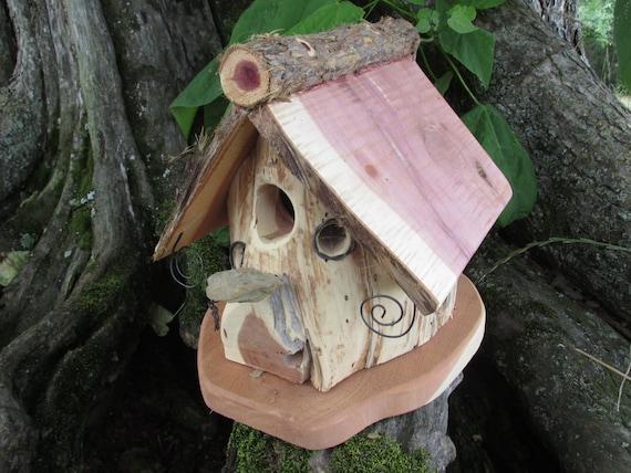 Outdoor decorative bird house rustic wood bird house outdoor for Decorative birds for outside