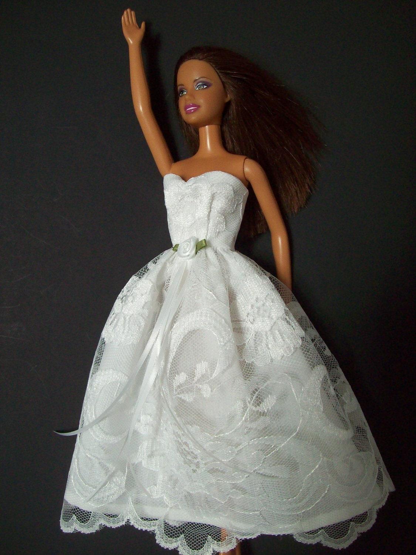 Let s Get Married Barbie Wedding Dress by grannysscrapbag