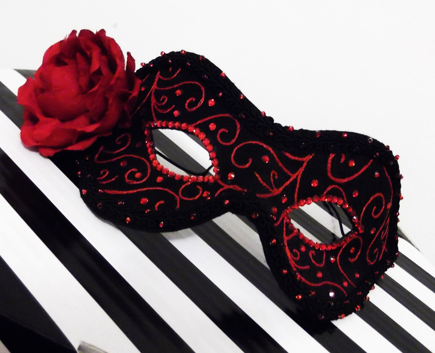 Phantom of the Opera Mask Masquerade Ball Mask Black and