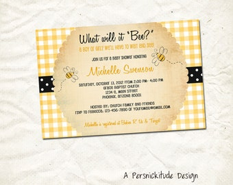 baby shower honey bee invitation print yourself file