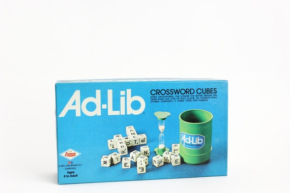 Ad Lib Crossword Cubes Game Unopened