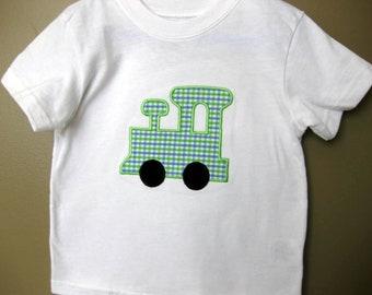 Train Shirt, Train Applique Shirt, Toddler Boy Shirts, Boys Applique Shirt