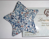 French  Liberty hair clip barrette Star - BLUE ELOISE