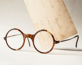Antique eye glasses, spectacles reading glasses, brown