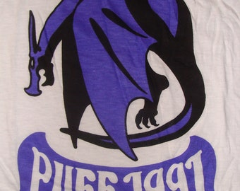 Vintage 1991 Puff Dragon White T Shirt