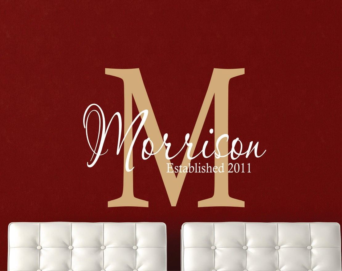 wall decals personalized family name name wall decal
