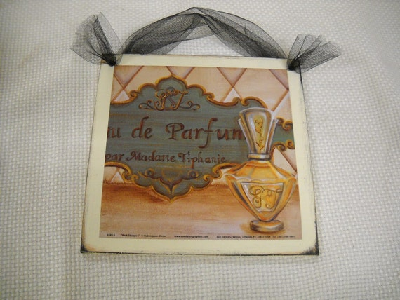 Items similar to les parfums french bathroom sign set bath for Bathroom decor etsy